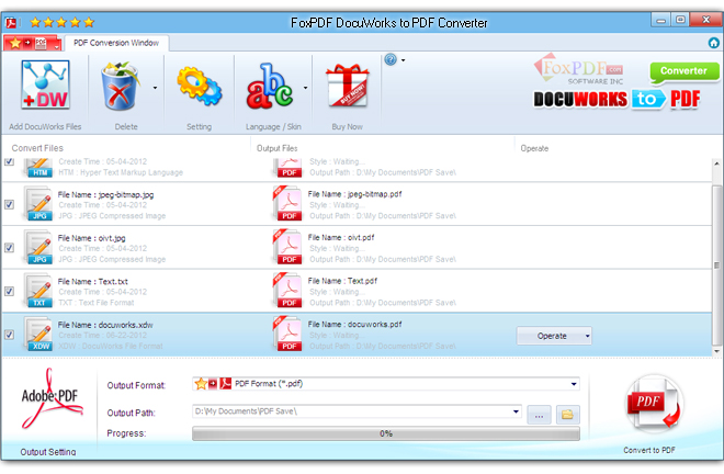 How to Convert DocuWorks XDW to PDF? FoxPDF DocuWorks to PDF