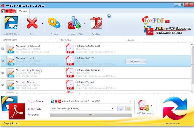 FoxPDF HTML to PDF Converter, HTML to PDF Converter, Convert HTML to - Convert File To Pdf