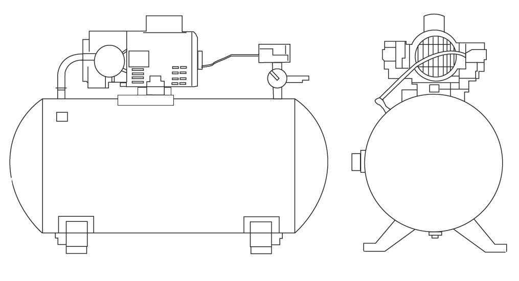 AC/DC Aquarium Air Pump AT9000schematic diagram of the