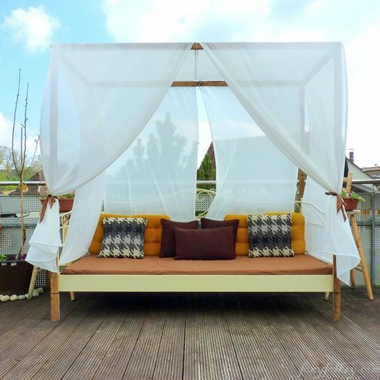Diy Canopy Bed Outdoor Foxy Folksy