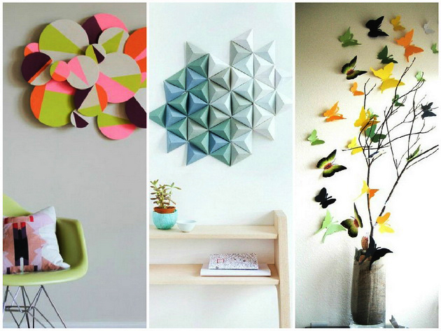 Diy 3d artistic wall decorations foynd for Wall decoration ideas with photos