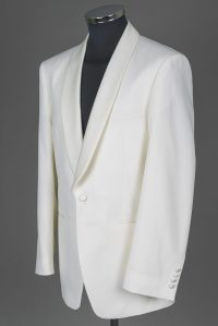 White Dinner Jacket shawl collar  Frack