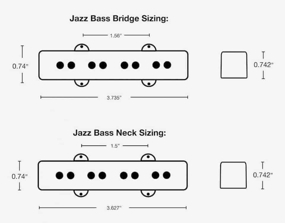Lindy Fralin Split Jazz Bass Pickups Noiseless Jazz Bass Pickups