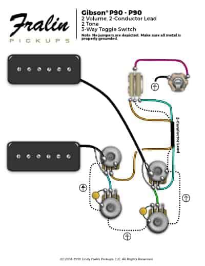 P90 Pickup Wiring Diagrams Two circuit diagram template