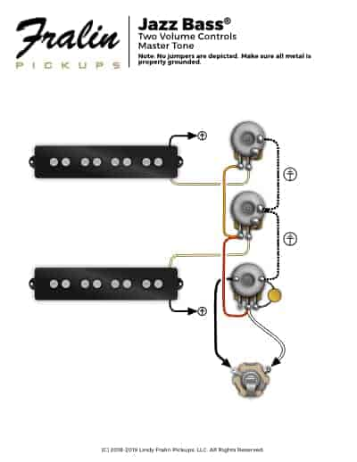 bass diagram the pickups are wired in