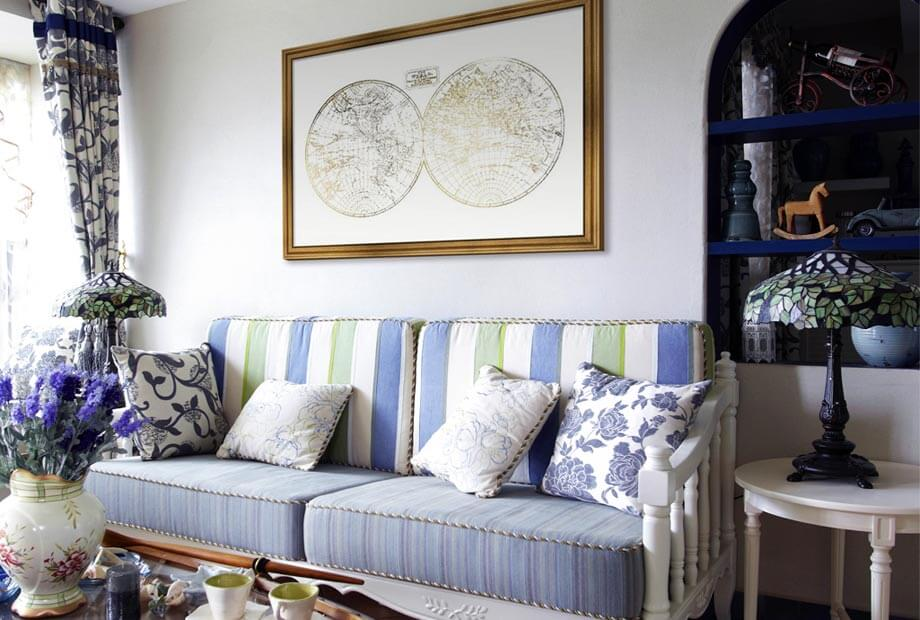 How to Decorate Living Room Walls Framed Art - how to decorate a long wall in living room