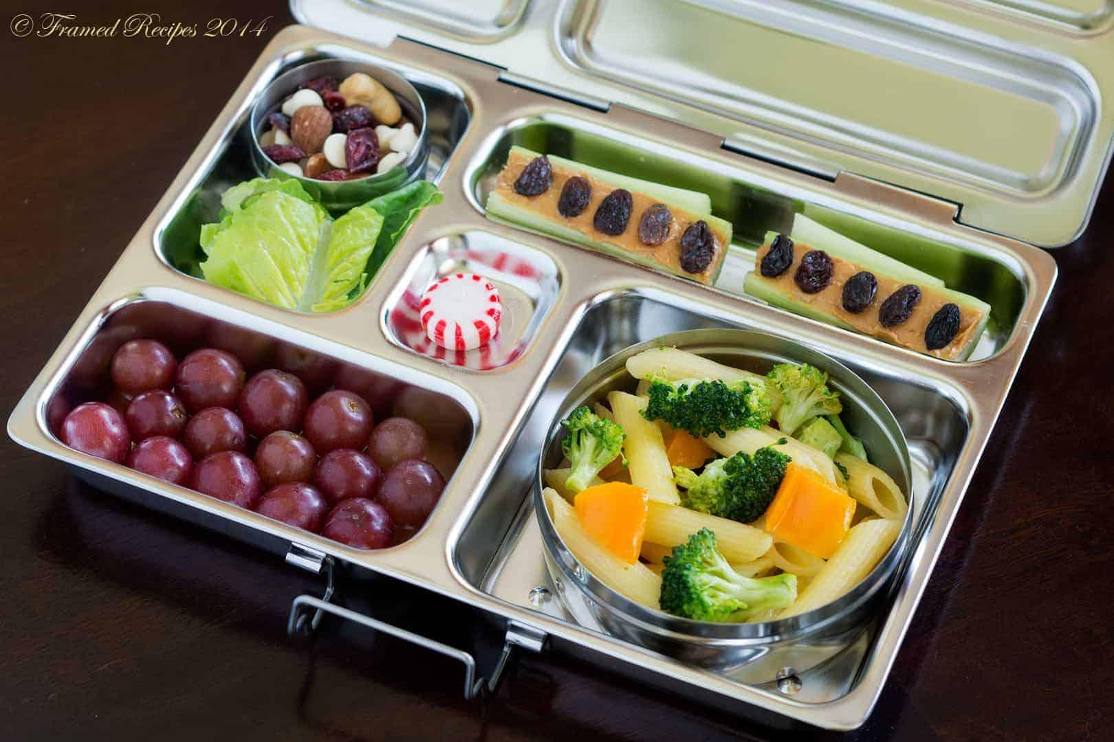 Broccoli Pasta Bento Box Framed Recipes