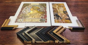 frame-samples-artwork-mucha-klimpt-framemakers