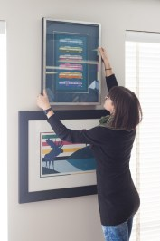 hanging-artwork-charles-pachter-coloured-mats-framemakers