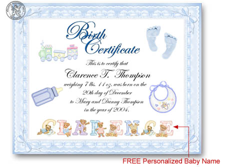 baby birth certificate template - baby birth certificate template