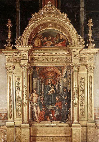 L'altare della Madonna in trono