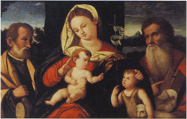 Sacra Famiglia con san Girolamo