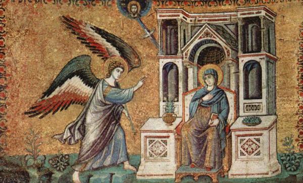 Pietro Cavallini: L'annunciazione (Santa Maria in Trastevere)