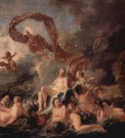 Boucher: Trionfo di Venere, particolare, 1740, Stoccolma, Museo Nazionale