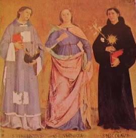 I santi Vincenzo Illuminata e Nicola: Antoniazzo Romano
