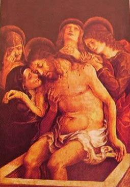 Cristo in pietà: Liberale da Verona 1490 onaco staatsgemaldesammlungen