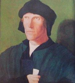 Ritratto virile: Luca di Leida, 1521 National Gallery di Londra