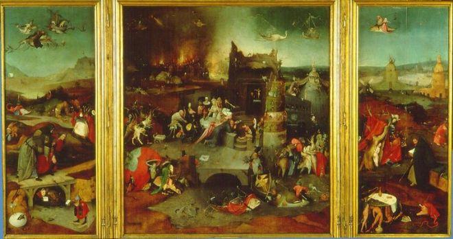 Hieronymus Bosch: Il trittico delle tentazioni