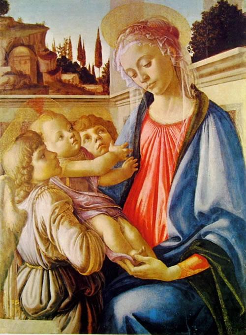 Il Botticelli: Madonna con il Bambino e due angeli