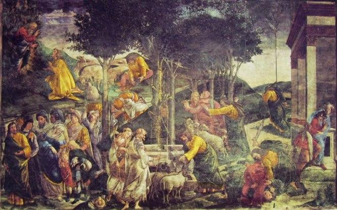 """""""Prove di Mosè"""" del Botticelli nella Cappella Sistina"""