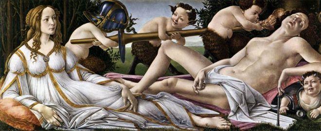 Il Botticelli: Venere e Marte