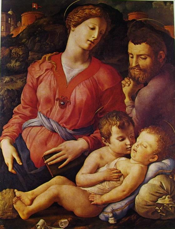 Il Bronzino: Sacra famiglia con San Giovannino
