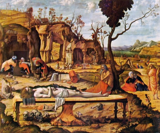 Carpaccio: Compianto su Cristo morto