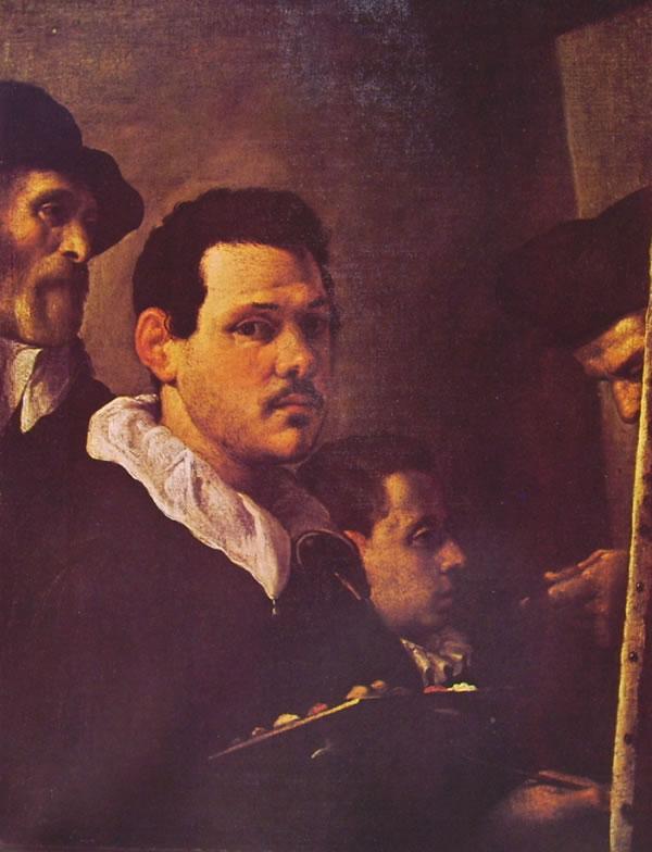 Annibale Carracci: Autoritratto e altre figure