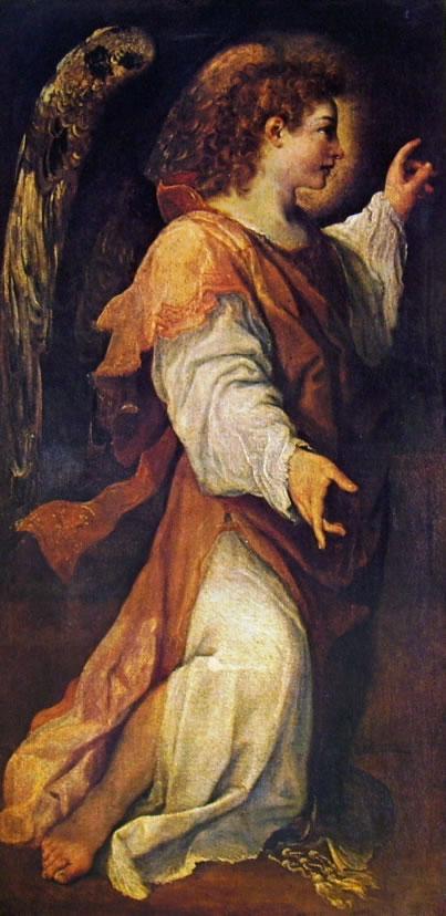 Annibale Carracci: L'angelo annunciante