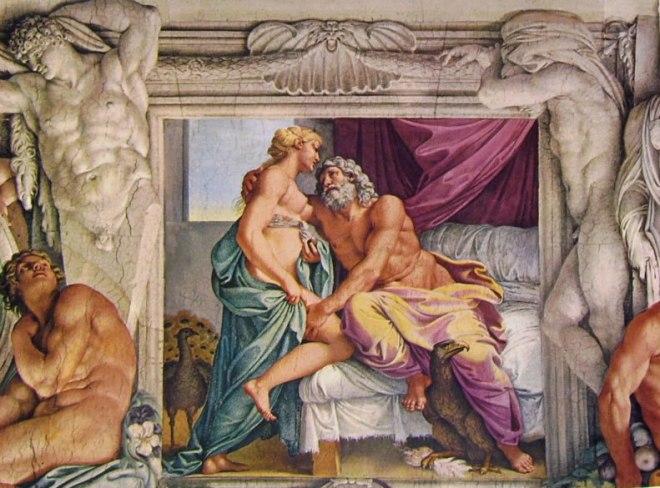 Annibale Carracci - La Galleria Farnese - Giove e Giunone