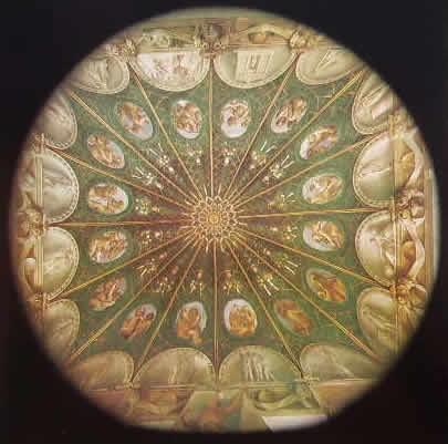 Correggio - Affreschi nella camera di San Paolo, Veduta complessiva