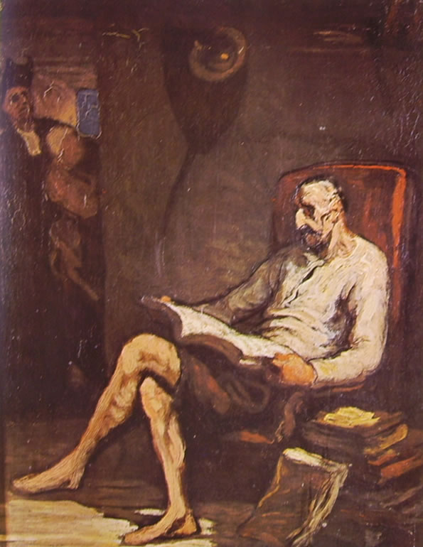 Honoré Daumier: Don Chisciotte in lettura