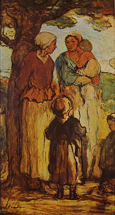 Honoré Daumier: Donne e bambini sotto un albero