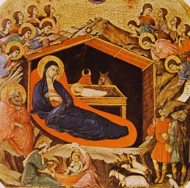 Duccio di Buoninsegna: Maestà - Predella (recto): La Natività