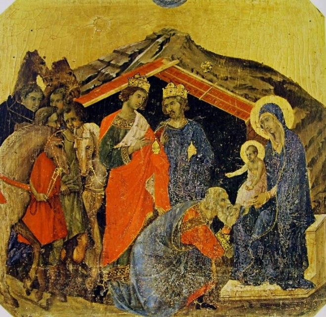 Duccio di Buoninsegna: Maestà - Predella (recto) - La presentazione al tempio