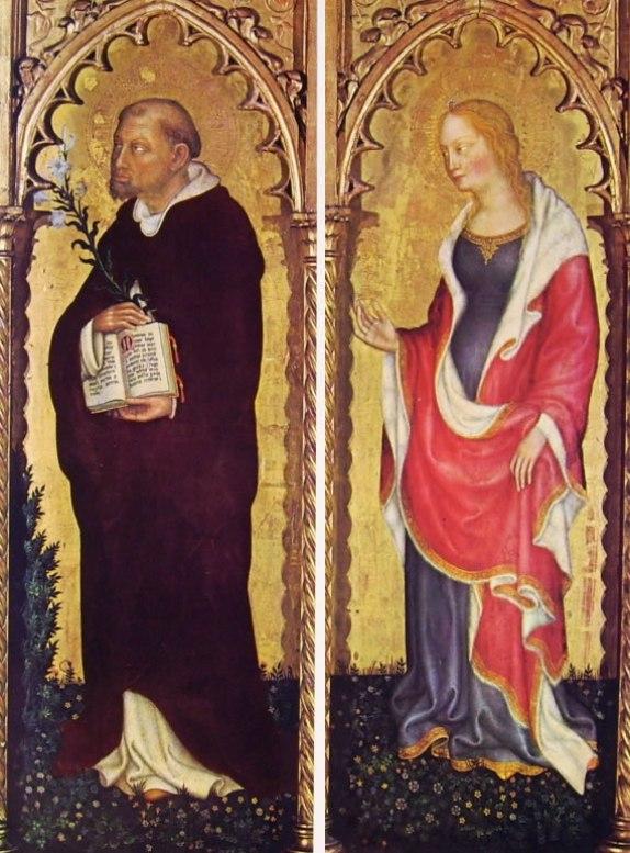 Gentile da Fabriano: Polittico di Valle Romita - I santi Domenico e Maria Maddalena