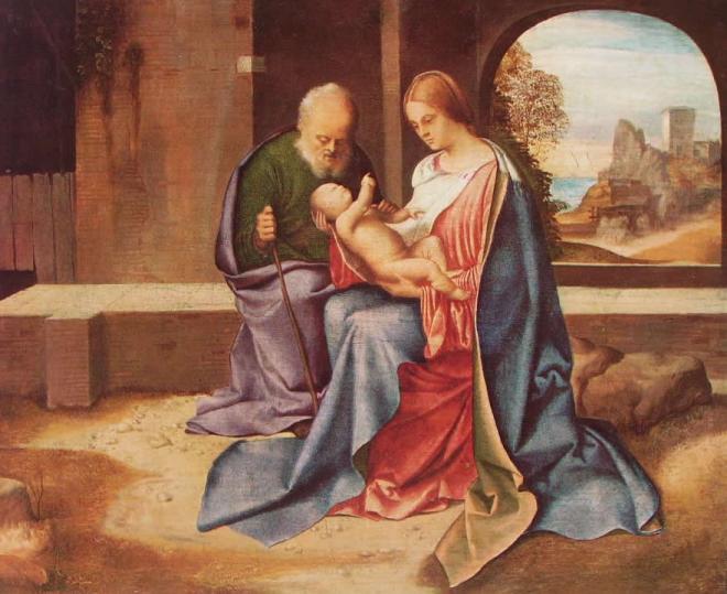 Giorgione: Sacra Famiglia Benson