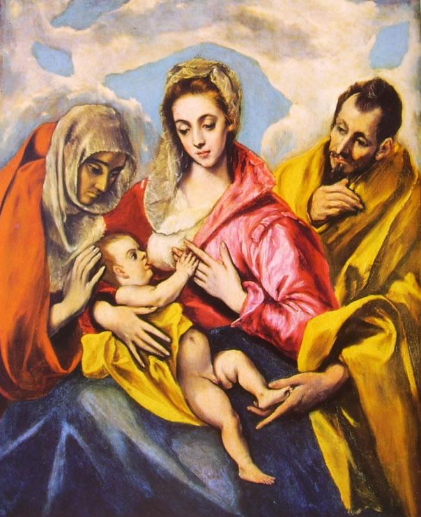 El Greco: Sacra Famiglia con Sant'Anna