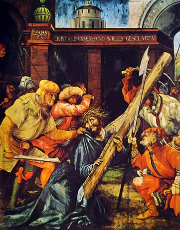 Il trasporto della croce, cm. 193 x 151