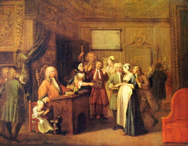 William Hogarth: L'attribuzione di paternità