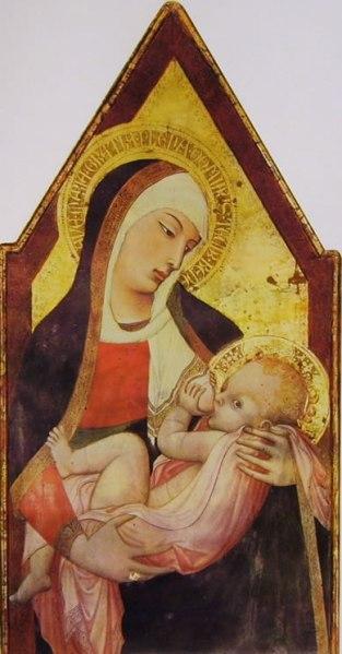 Ambrogio Lorenzetti - Madonna del latte, seminario, Siena