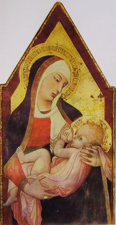 Ambrogio Lorenzetti: Natività della Vergine (Madonna del latte)