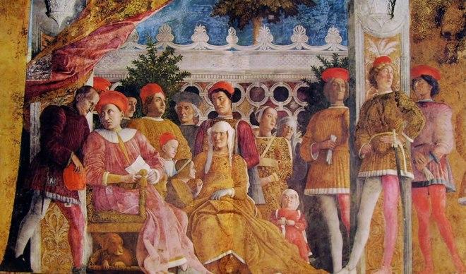 Mantegna: Camera degli sposi - La corte