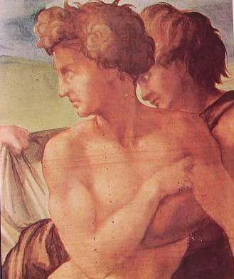 Michelangelo Buonarroti - Tondo Doni (parrticolare) Uffizi Firenze