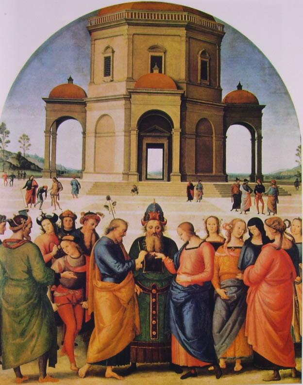 Il Perugino: Lo sposalizio della Vergine