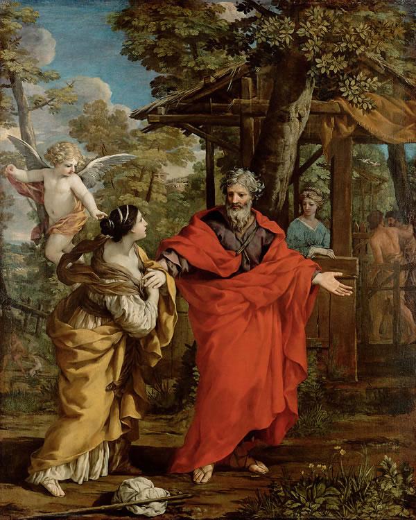 Pietro da Cortona: Il ritorno di Agar ad Abramo