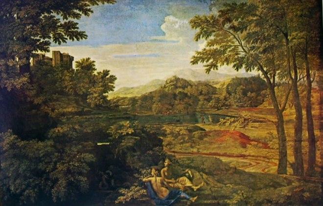 Nicolas Poussin: Paesaggio con due Ninfe