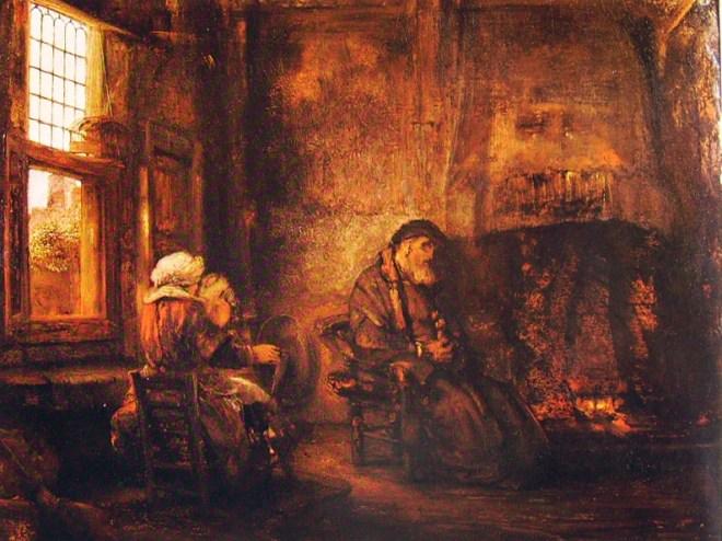 Rembrandt Harmenszoon Van Rijn: L'attesa di Tobia e Anna