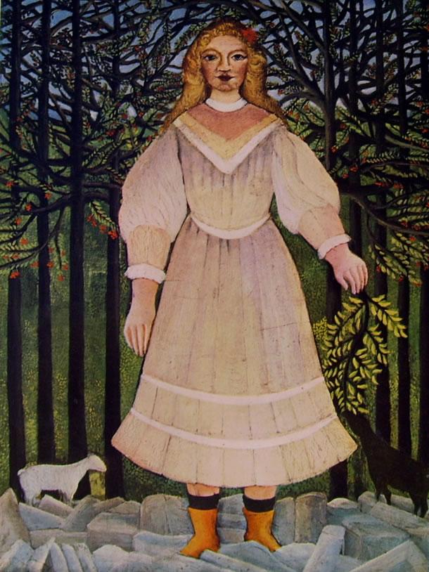 Rousseau il Doganiere: Ragazza con capre