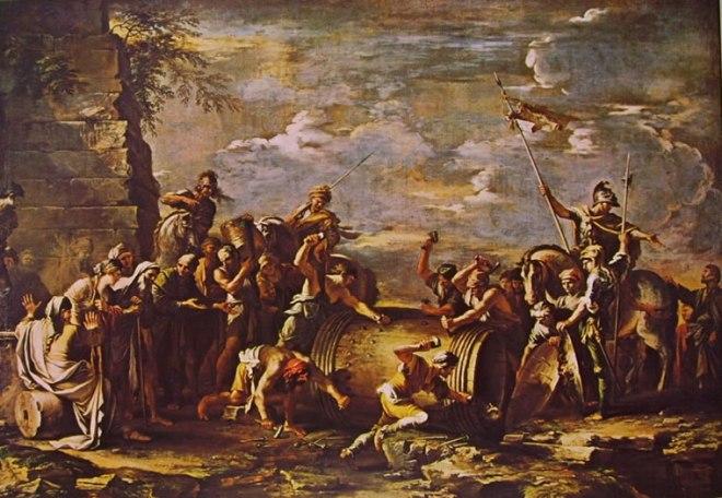 Salvator Rosa: Il martirio di Attilio Regolo